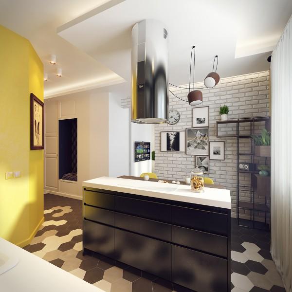 black-kitchen-island-600x600