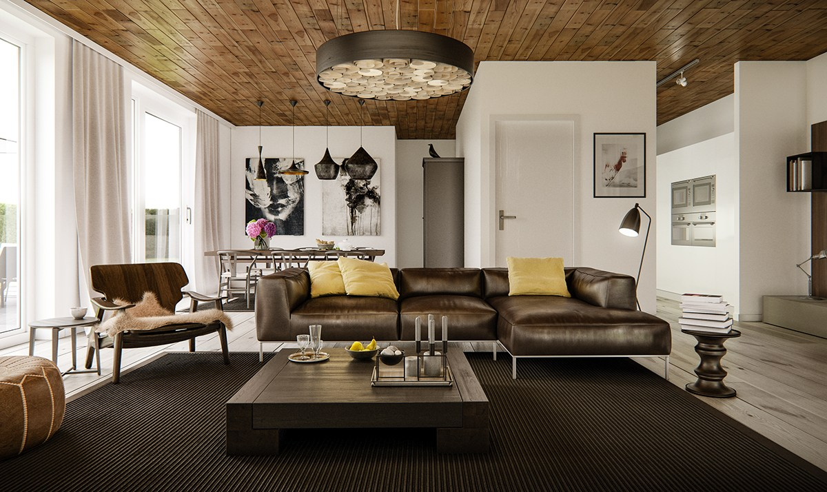 brown-and-yellow-living-room-theme